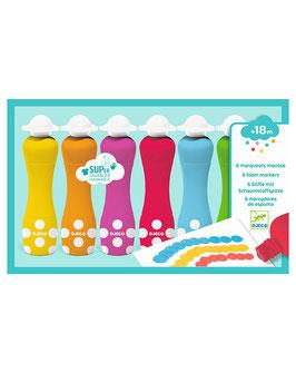 Farbstifte RAINBOW 6-teilig mit Schaumstoffspitze