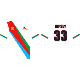 Nipsey or Eritrea Adult white shirt