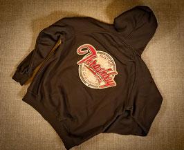 Zip Hoodie Brown Classic Logo