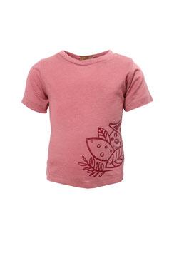 Guttellino Shirt Transferdruck Kurzarm Jersey Mineralrot