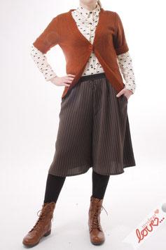 Hose Hosenrock Damen Nadelstreifen Grau