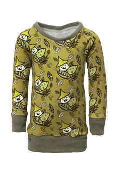 Guttellino Shirt Langarm Print Jersey Olive
