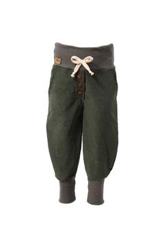 Guttellino Hose Feincord Dunkelgrün Taschen Kordel