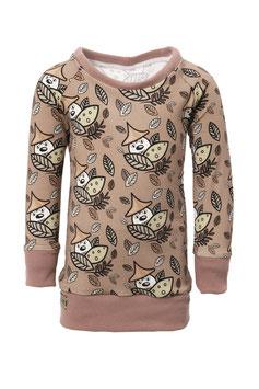 Guttellino Shirt Langarm Print Jersey Taupe