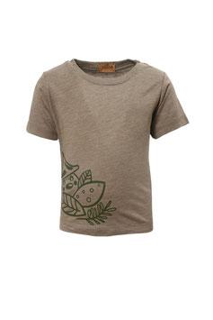 Guttellino Shirt Transferdruck Kurzarm Jersey Olive