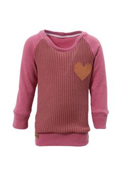 Guttellino Sweatshirt Herz Strick Mauve