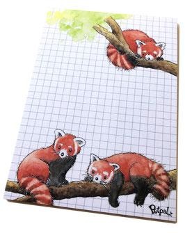 Notizblock DIN A6: Roter Panda