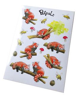 Stickerbogen: Roter Panda