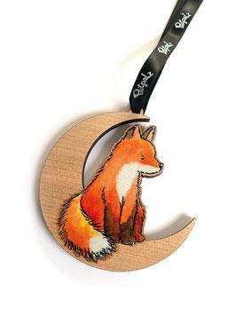 Anhänger: Fuchs auf dem Mond