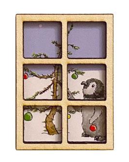 Magnet: Fenster in die Weihnachtswelt