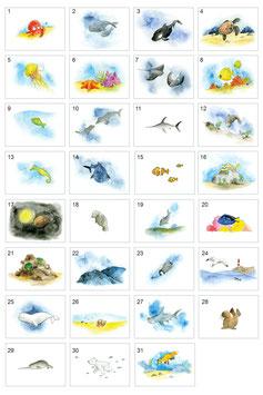 """Kunstdruck aus dem Artbook """"Unter der Meeresoberfläche"""""""