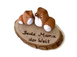 "Glücksbringer: Glücksfüchs-Set ""Beste Mama der Welt"""
