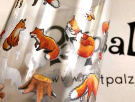 Trinkglas: Füchse