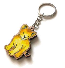 Schlüsselanhänger aus Kirschholz: Löwe