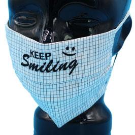 "Behelfsmaske bestickt - ""KEEP Smiling"" - KEIN FFP"