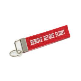 """Schlüsselanhänger rot, beidseitig bestickt - """"Wunschtext"""""""