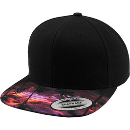 Sunset Peak Snapback - black