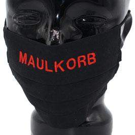 """Behelfsmaske bestickt - """"MAULKORB"""" - schwarz - KEIN FFP"""