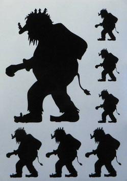 Aufkleberset - Troll