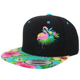 Flamingo @ Hawaiian Snapback - black/aqua
