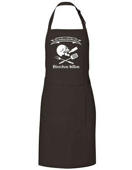 Grillschürze - Skull Chillen Grillen Bierchen Killen - schwarz