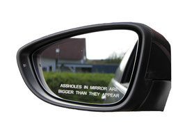 Assholes In Mirror Are Bigger Than They Appear