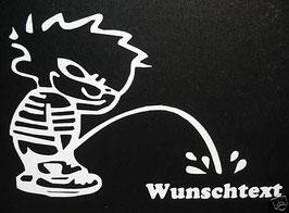 """Piss Off """"Wunschtext"""" - 10 x 8 cm"""