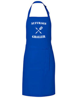 Grillschürze - Auftrags Griller - blau