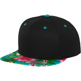 Hawaiian Snapback - black/aqua