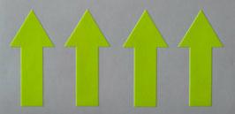 Pfeil Abschlepphaken V1 - 4 St. - Reflexfolie, fluoreszierend