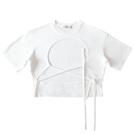WHITE FRONT OPENING T-SHIRT