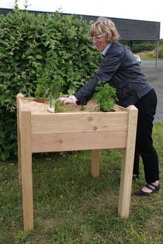 Carré de jardin pour cultiver à hauteur