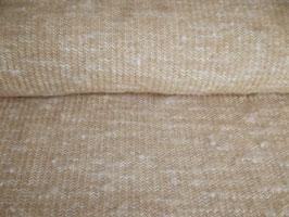 Strickstoff Wolle beige weiß meliert