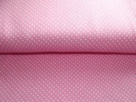 Jersey Pünktchen rosa weiß Stenzo