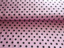 Stenzo Baumwolle rosa mit schwarzen Punkten