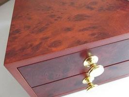 Holzschatulle Aufbewahrungsbox Nähgarn Stickgarn