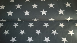 Jersey Sterne grau weiß