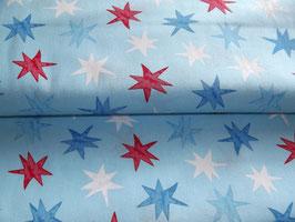 Baumwolle Sterne blau