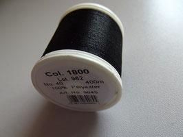 Madeira Stickgarn Polyneon schwarz Col. 1800
