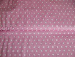 Baumwolle Sterne rosa weiß
