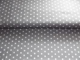 Baumwolle Sterne grau weiß