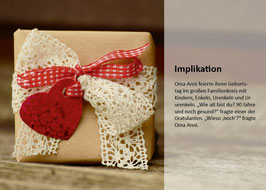 "Postkarte ""Implikation"""