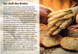 """Postkarte """"Der Duft des Brotes"""""""