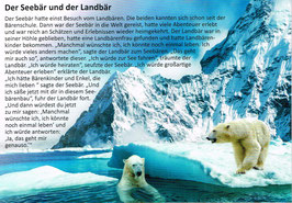 """Postkarte """"Der Seebär und der Landbär"""""""