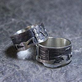 """Warnemünde Ring mit der """"Esperanza Warnemünde"""" in 925er Sterling-Silber"""