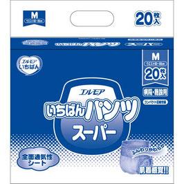 エルモアいちばん はくパンツスーパー長時間 M-20枚 6入  1パックが1380円(税別)