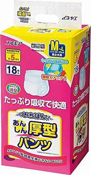 エルモア いちばんあんしん厚型 長時間パンツM-L18枚 4セット 1パック1380円(税別)