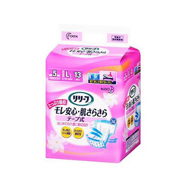 リリーフ モレ安心・肌さらさら テープ式 L13枚 8入 1パック1395円(税別)