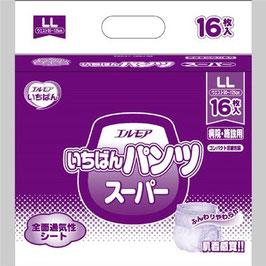 エルモアいちばん はくパンツスーパー長時間 LL-16枚 6入 1パックが1380円(税別)