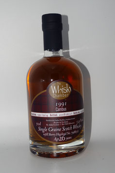 Cambus (TWC) 1991, 26 Jahre, 53,9%vol, ex refill Sherry cask - LOWLANDS - 0,5l